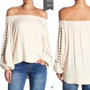 One Teaspoon | Sienna Studded Off the Shoulder Top